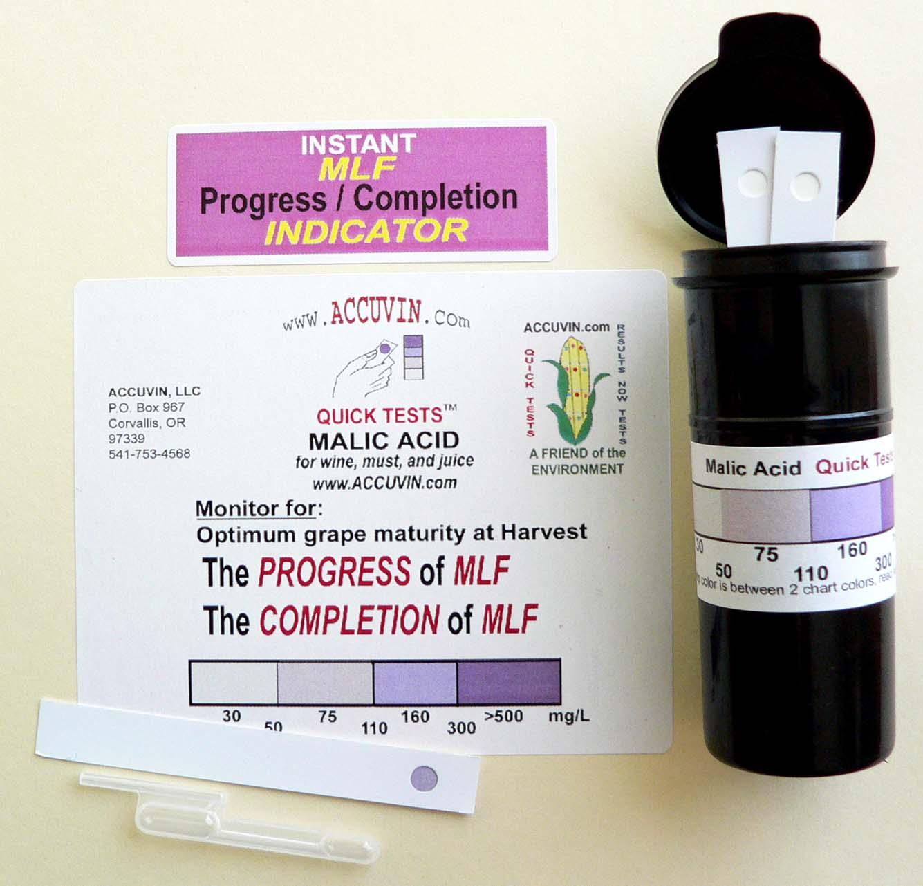 Accuvin Malic Acid Test Kit 10 test
